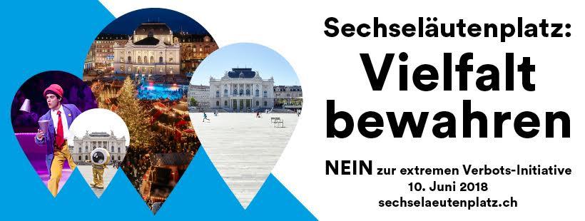 10.06.2018 Ja zur Kulturstadt Zürich, Nein zur Sechseläutenplatz Initiative