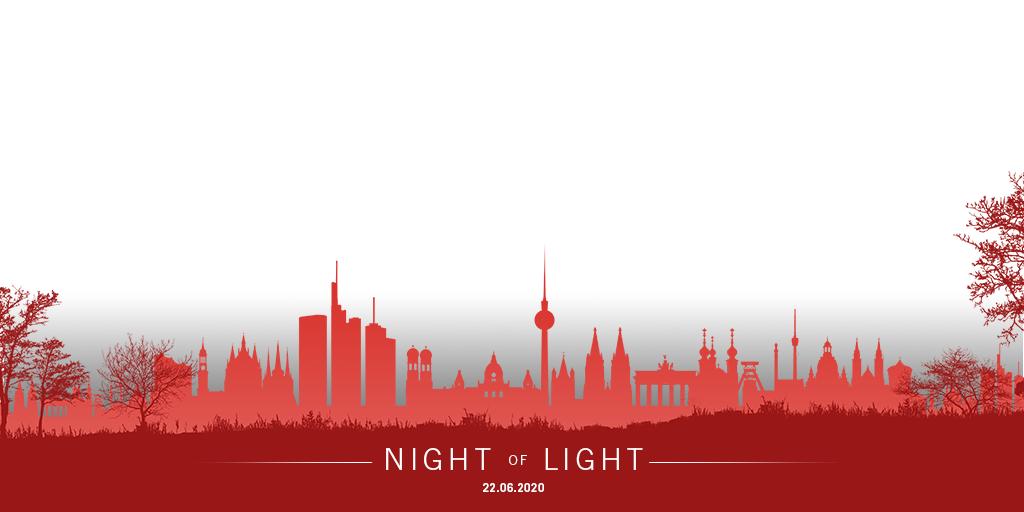 MEDIENMITTEILLUNG:  Night of Light, Montag 22.06.2020, 22.00 bis 24.00 ein flammender Appell der Veranstaltungsbranche
