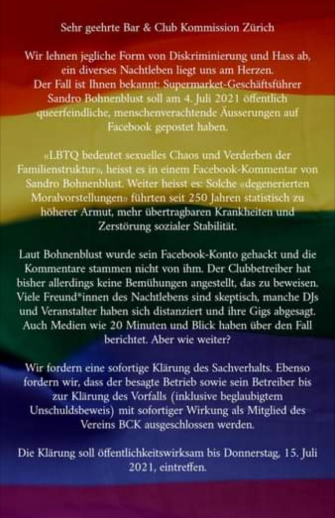 Kampax Kampagne - Supermarket, Homophobie Vorwurf